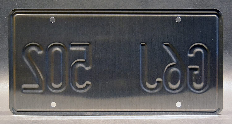 G6J 502 Metal Stamped Vanity Prop License Plate Bill Paxton Twister