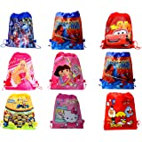SR GIFTS Cartoon Printed Haversack Bag For Kids Birthday Party Return Gift(Pack Of 12)