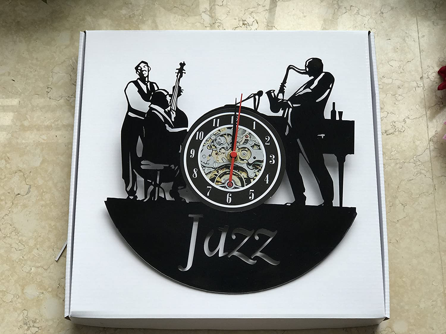 Life is a Hot Like Jazz Art Vinyl Wall Clock-Unique Home Decor That Will Suit to Any Interior – Handmade Gift for Birthday Anniversary or Any Other Occasion Gift for Him Gift for Her