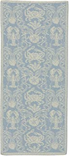 "product image for Heritage Lace CD-1436SB Sea Blue Crab Damask 14""x36"" Table Runner"