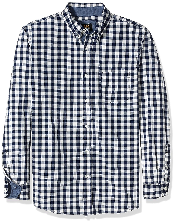25397c9c993a5f LEE Men's Ls Button Down Shirts at Amazon Men's Clothing store: