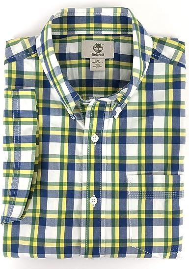Timberland Madras - Camiseta de manga corta para hombre - Azul - Small: Amazon.es: Ropa y accesorios