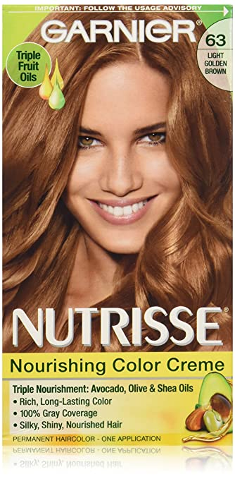 Amazon.com: Garnier Nutrisse Nourishing Hair Color Creme, 63 Light ...