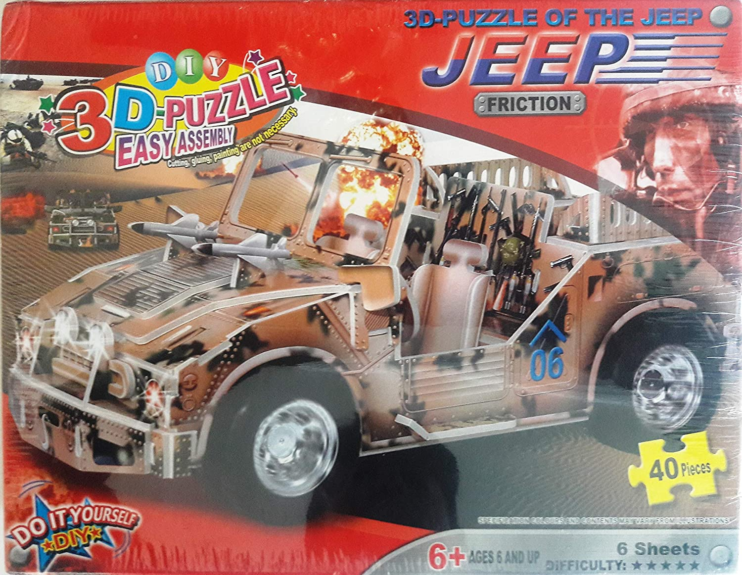DIY 3-D Puzzle of the Jeep Friction Do It Yourself WD2505