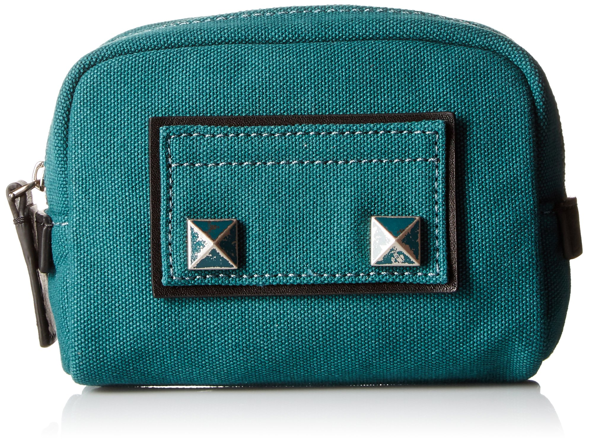 Marc Jacobs Small Canvas Chipped Studs Cosmetics Case, Teal
