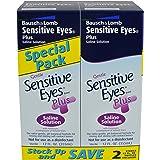 Sensitive Eyes Plus Saline Solution, 12 Fluid Ounce (Pack of 2)