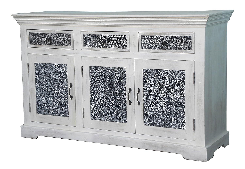 The Wood Times Sideboard Vintage Wohnzimmerschrank Massiv Terra Mangoholz, BxHxT 145x85x40 cm