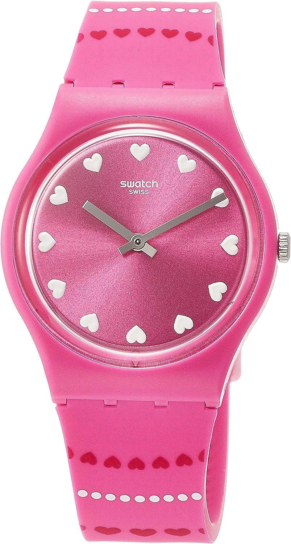 Swatch Reloj Analógico para Mujer de Cuarzo con Correa en Silicona GP160