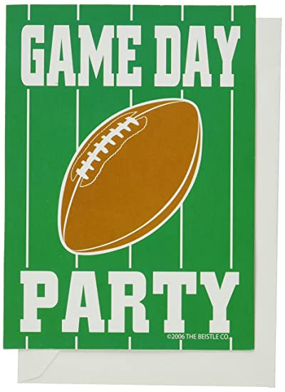 Amazon Com Game Day Football Invitations Children Party Invitations