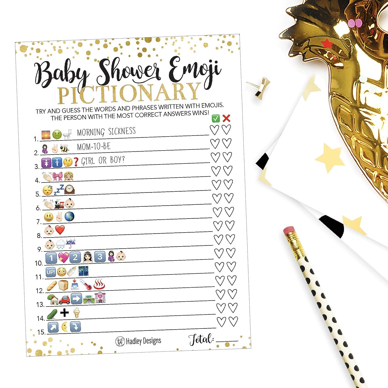 Baby Shower Emoji Pictionary Answer Key Free
