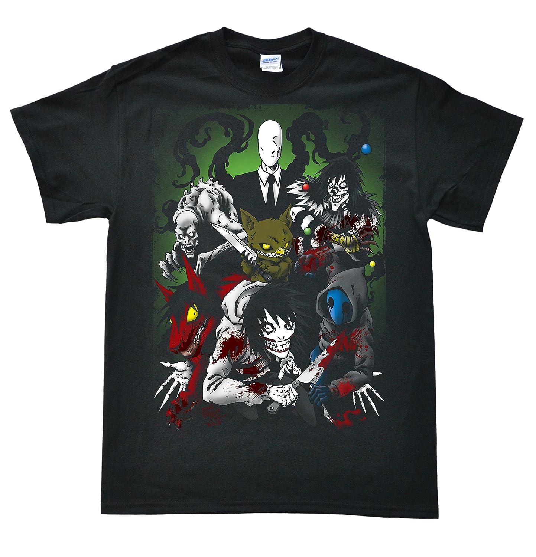 Stooble Men's Creepypasta Family T-Shirt Stooble - 1ClickPrint