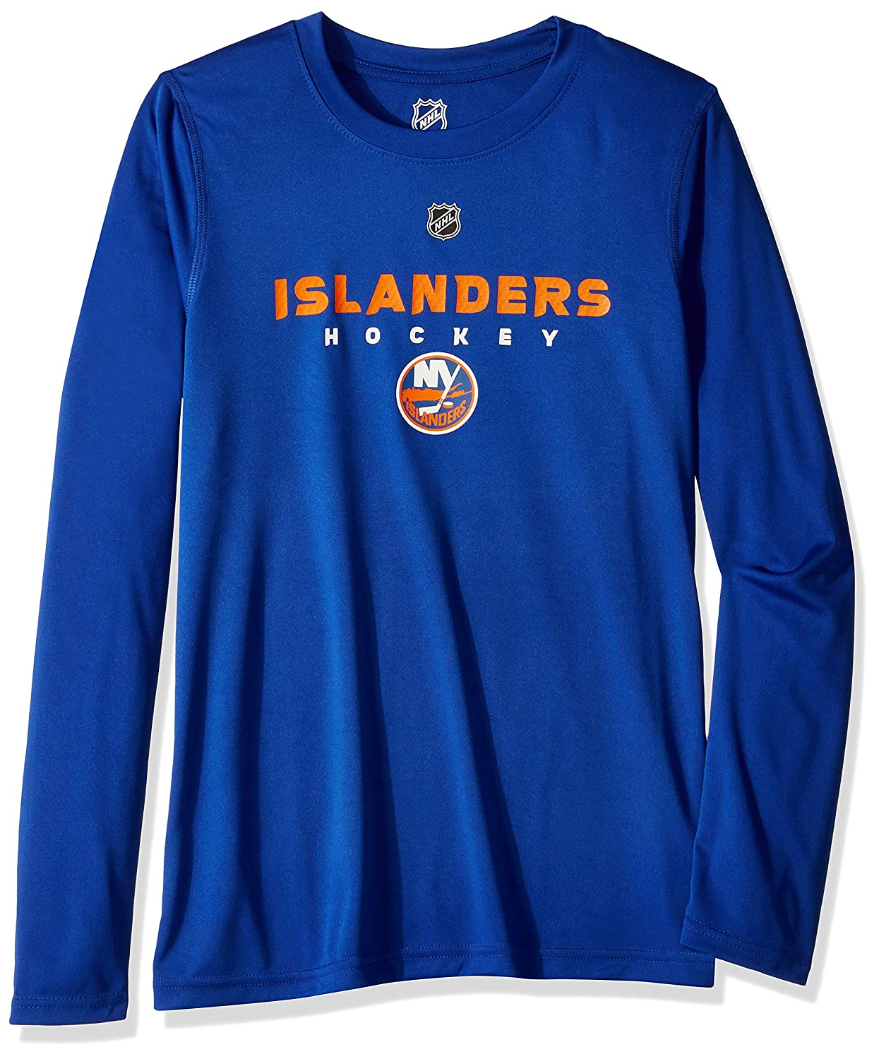 Royal Outerstuff NHL NHL New York Islanders Youth Boys Hyper Long Sleeve Performance Tee 8 Youth Small
