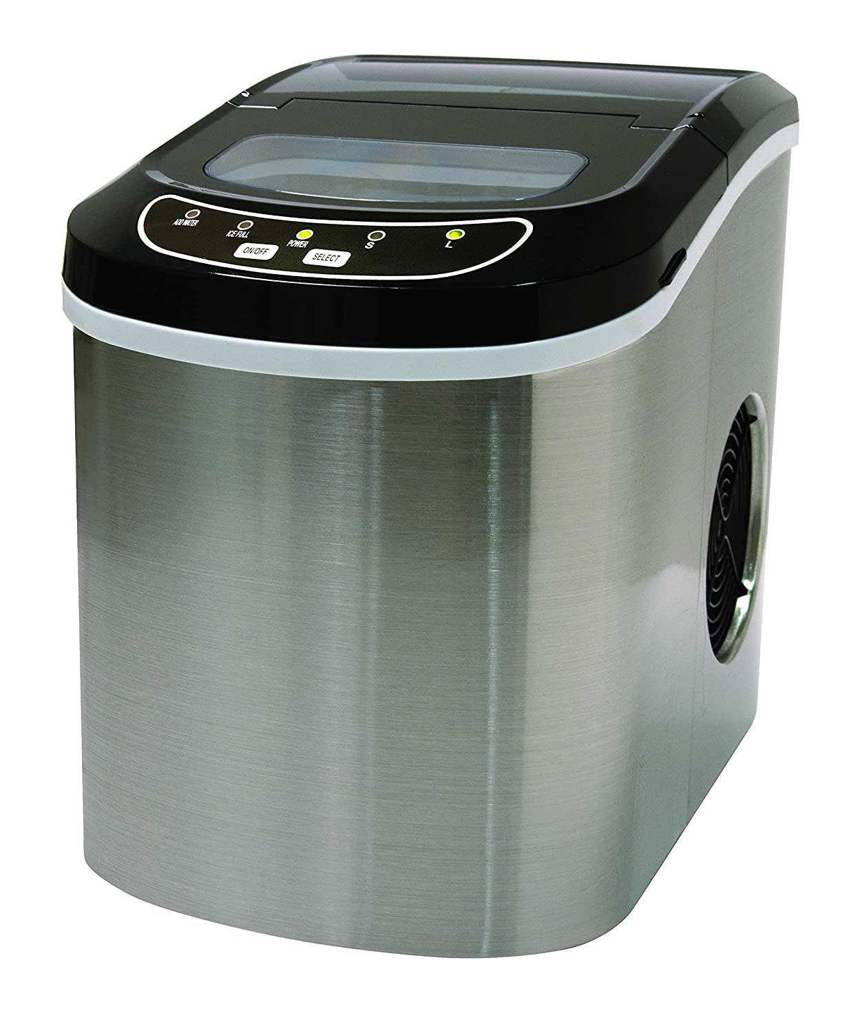 Stainless Steel 26 Lbs Counter Top Ice Maker Curtis International LTD ICE102ST