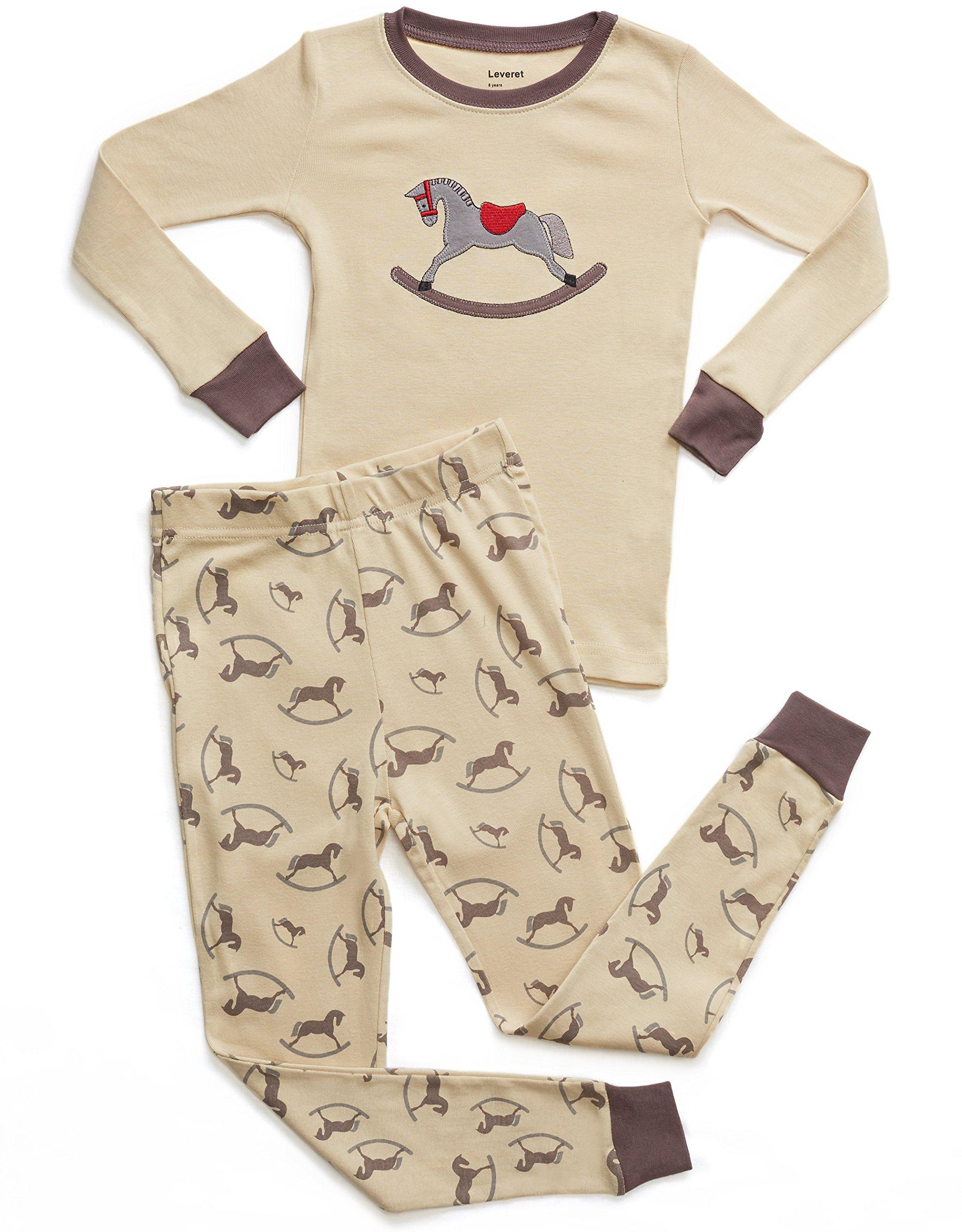 12 Months-14 Years Leveret Kids /& Toddler Horse Bird Girls Pajamas 2 Piece Pjs Set 100/% Cotton Sleepwear