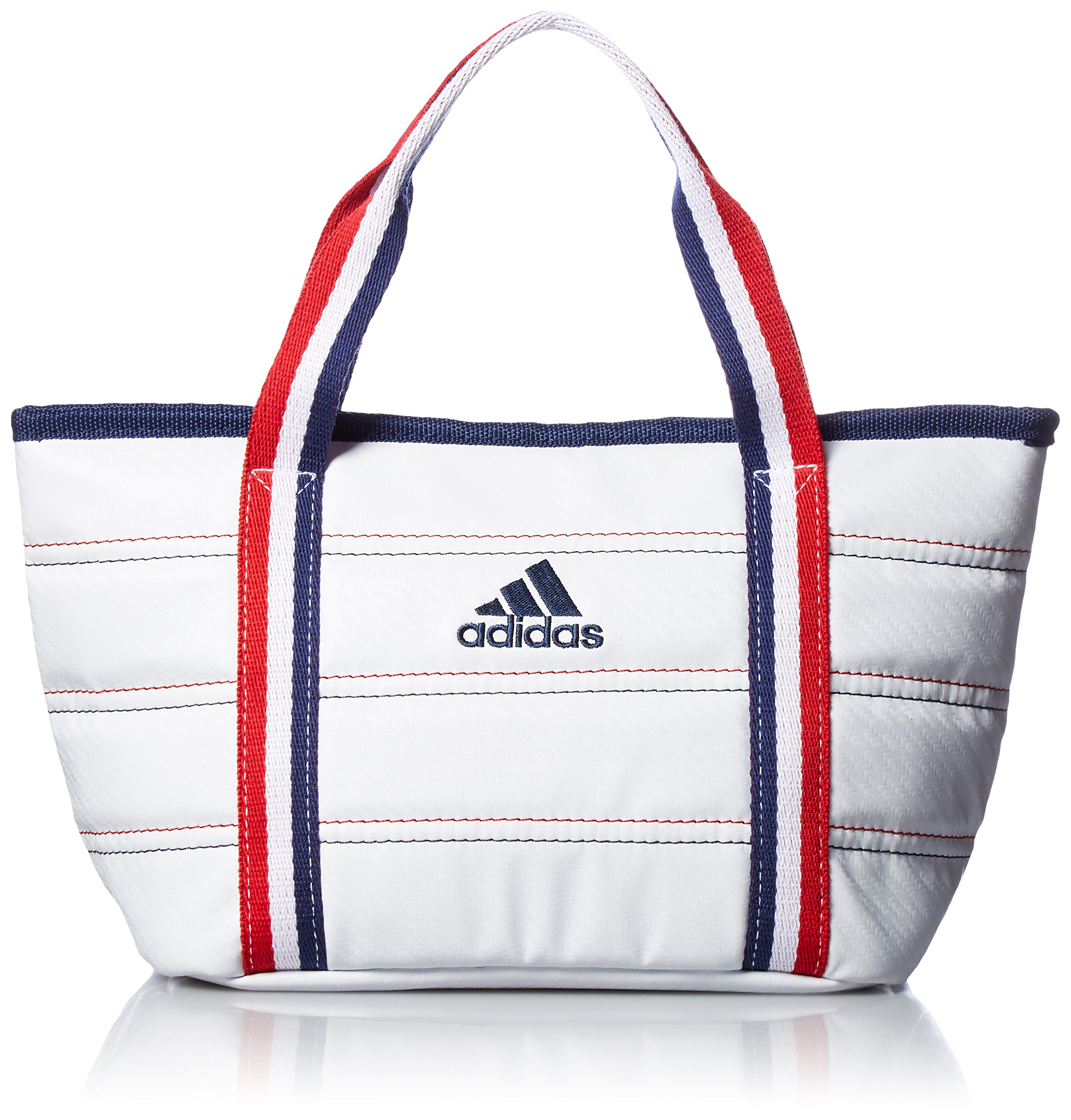 [Adidas Golf] Round Tote Bag L23 × W18 × H13 cm AWT 28 A 42074 White by adidas (Image #1)