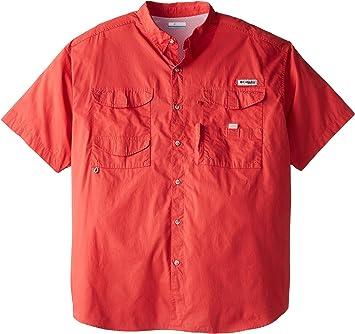 Columbia Bonehead - Camisa de Manga Corta para Hombre, Color Rojo: Amazon.es: Deportes y aire libre