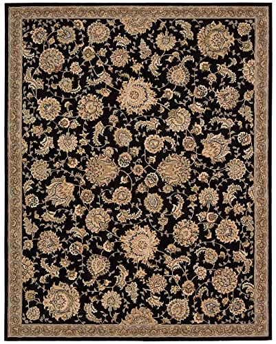 Nourison Nourison 2000 Black Rectangle Area Rug, 9-Feet 9-Inches by 13-Feet 9-Inches 9 9 x 13 9