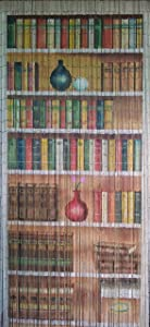 Bookcase Beaded Curtain 125 Strands (+hanging hardware)