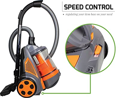 OventeBagless Canister Cyclonic Vacuum Cleaner