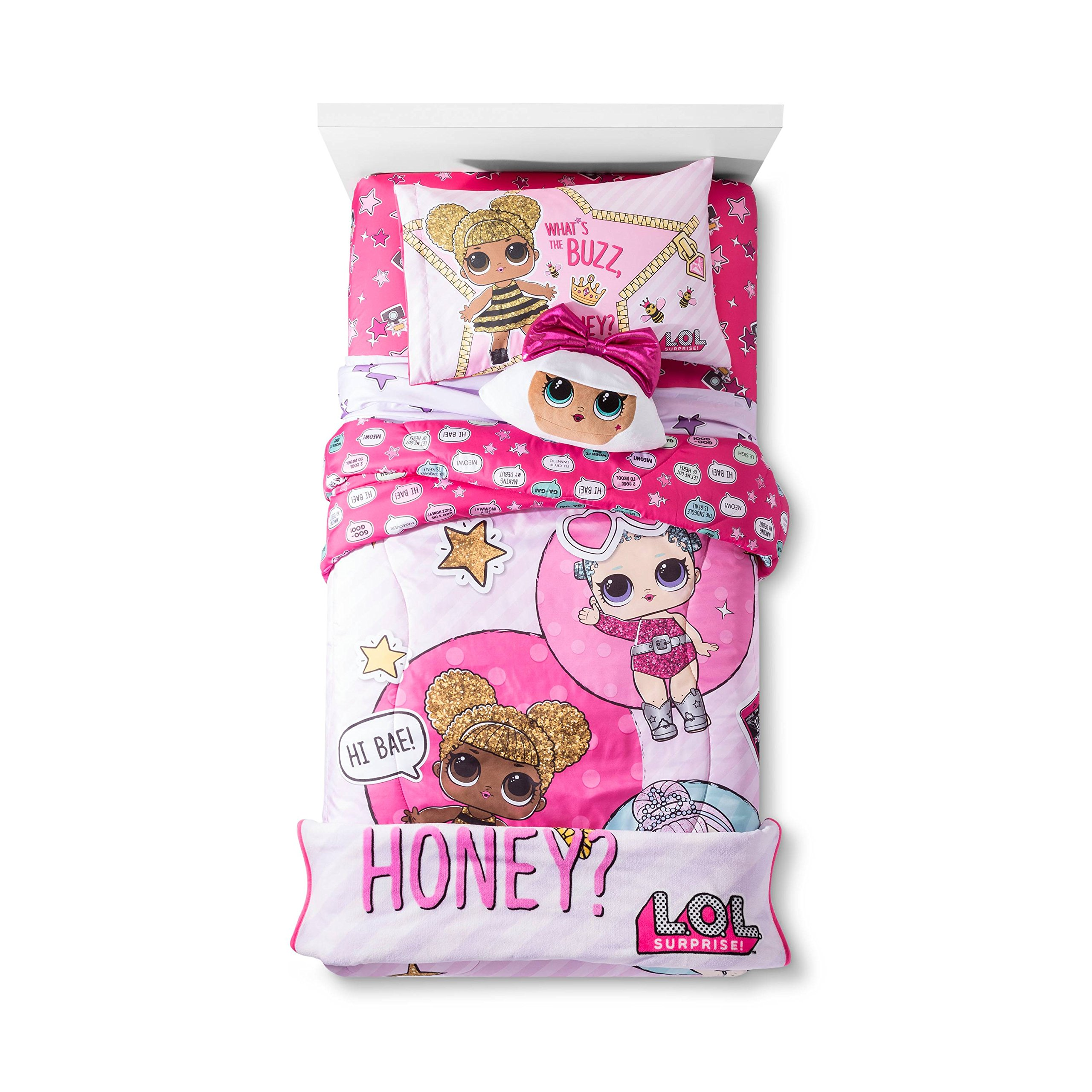 Franco LOL Twin Comforter and Sheet Set with Diva Pillow and Throw