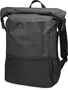 Gaiam Yoga Mat Bag Backpack | On-The-Move Roll Top Travel Carrier Daypack | Messenger Rucksack | Multiple Pockets, Laptop Divider, Padded Shoulder Straps, Large Capacity | Fits Most Size Mats