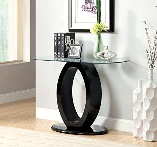 Furniture of America Modine Sofa Table, 54 x 17.75 x 26.25 , Black