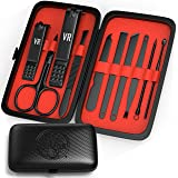 Viking Revolution Manicure Set for Men - Mens Nail Care Kit with Nail Clippers for Professional Grooming - Pedicure and Manic