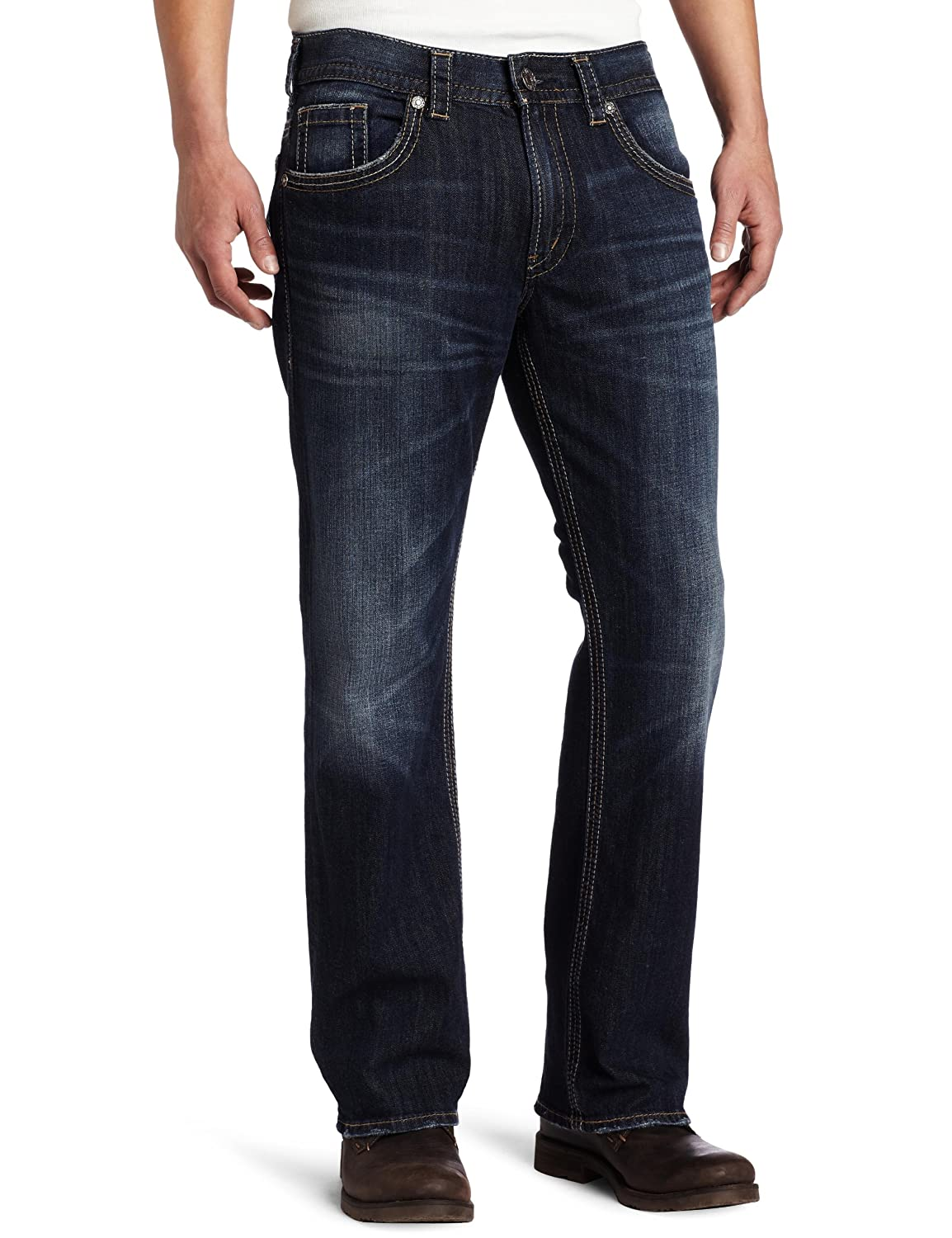 Silver Jeans Co Mens Gordie Loose Fit Straight Leg Jeans