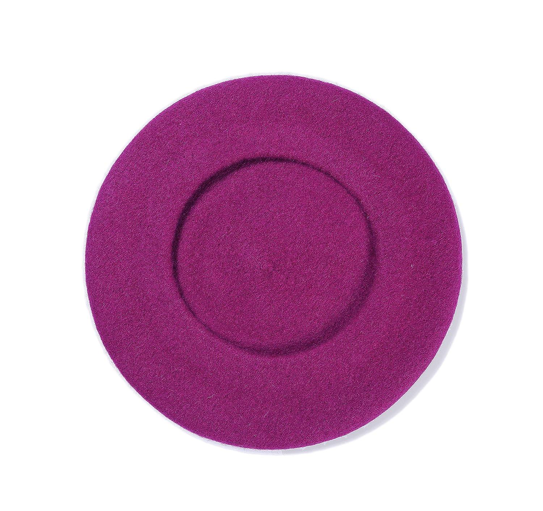Wolle einfarbig klassisch leicht l/ässig Runsabay Baskenm/ütze im Vintage-Stil