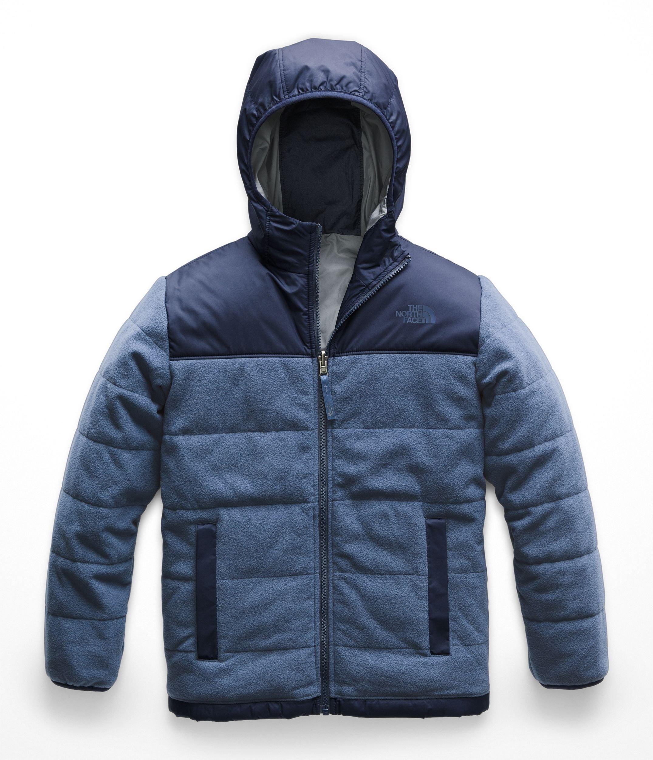 The North Face Kids Boy's Reversible True or False Jacket (Little Kids/Big Kids) Shady Blue X-Large