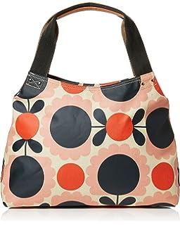 Womens Classic Zip Shoulder Bag Messenger Bag Multicolour (Blush) Orla Kiely
