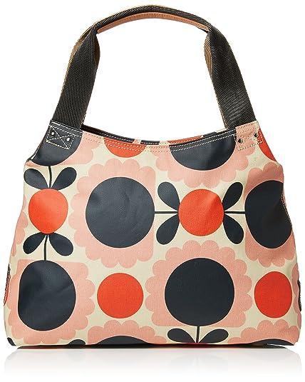 Orla Kiely Womens Classic Zip Shoulder Bag Messenger Bag Multicolour (Blush) 5c3c24cbaba89
