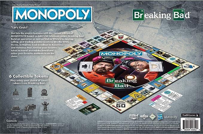 Monopoly Breaking Bad | Basado en el Breaking Bad Show de AMC | Juego de monopolio Coleccionable con ubicaciones Familiares y Momentos icónicos: Amazon.es: Juguetes y juegos