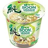 NongShim Soon Noodle Soup, Veggie, 2.6 Ounce (Pack of 6)
