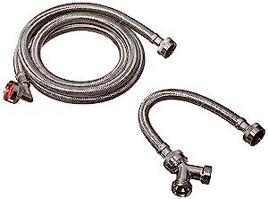 Eastman 41025 Stainless Steel Steam Dryer Installation Kit, 6 Ft Length, Silver