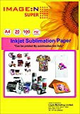 High Quality Dye Sublimation Inkjet Paper 100 GSM A4 / 20 Sheets for Mug & T Shirt Pinting Paper