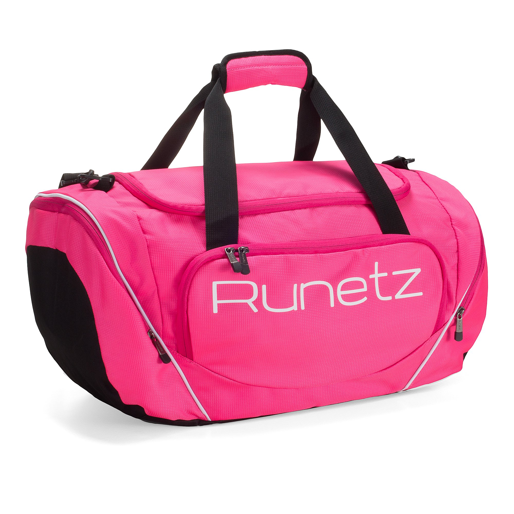 Runetz Gym Bag for Women and Men Duffle Bag with Wet Pocket, Travel Gym Bag with shoe compartment Duffel Bag - 20 inch Large - PINK by Runetz