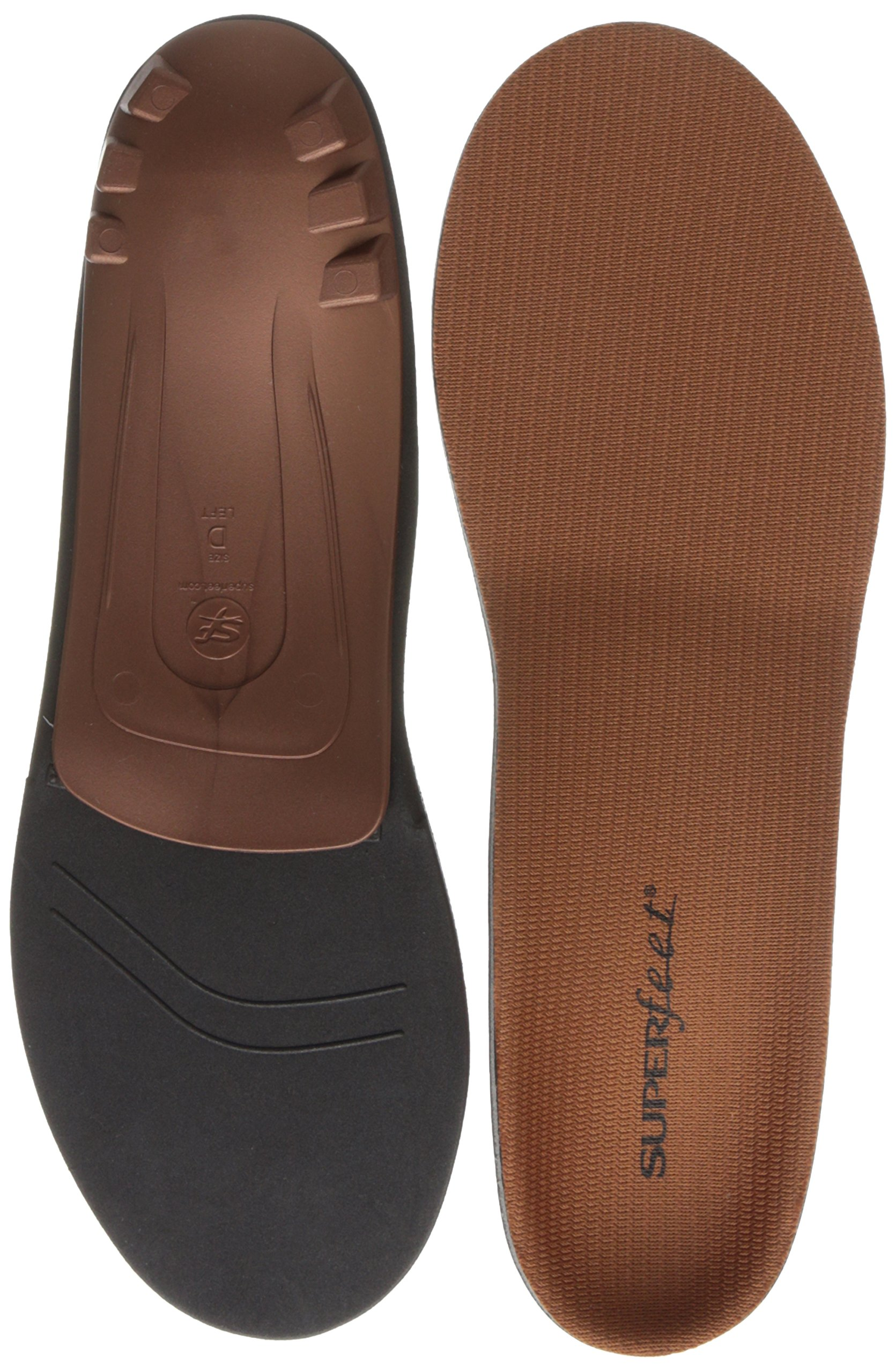 Superfeet COPPER, Memory Foam Comfort Orthotic Insoles, Unisex, Copper, Small/6.5-8 Wmns/5.5-7 Mens by Superfeet (Image #2)