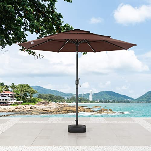 LOKATSE HOME 9.5Ft 3 Tier Patio Umbrella