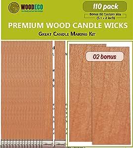 Amazon.com: Natural Wood Candle Wicks Bulk - Candle Making ...