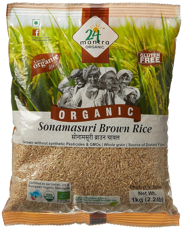 24 Mantra Organic Sonamasuri Brown Rice 1kg Grocery Pure Green Long Grain 1 Kg Gourmet Foods