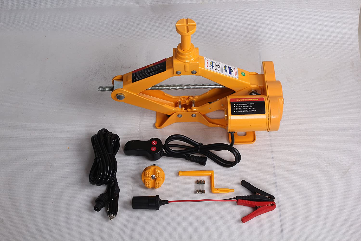 12 V 2 Tonne Scissor Jack Car Lift Electric Car Jack Scissor Jack ZS ZAISHANG Lifting Range 12.5-42 cm