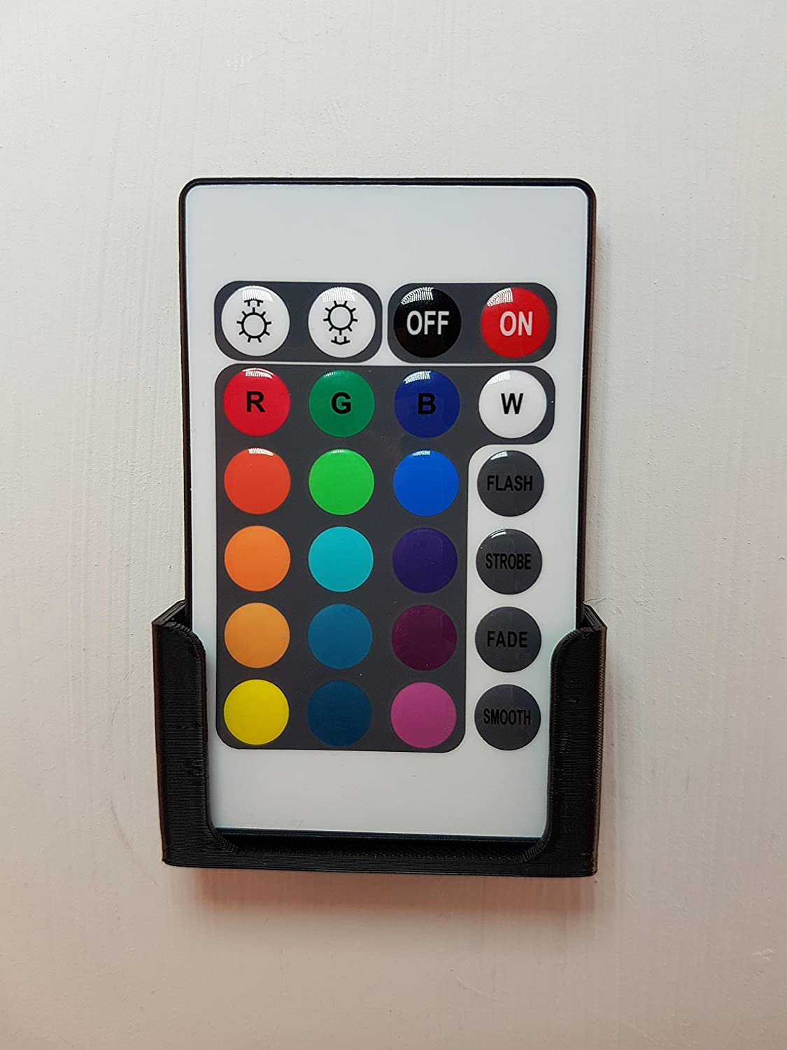 Wall Mount for LED Lighting Remote Control : Black 3D Cabin