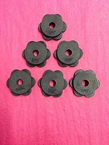 Belle Rose Farm Authentic Rubber Stoppers for Garden Flag Poles - Set of 6