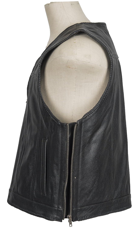 Motorcycle Biker Waistcoat with zipper
