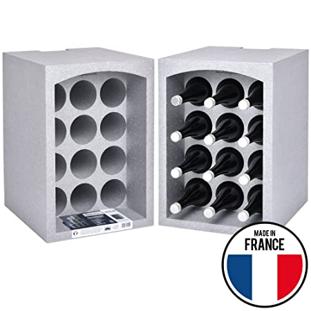 2 Set Talous BuonVino Free Standing Wine Rack for Storage Isolating Styrofoam Stackable Coolbox 35x29  sc 1 st  Amazon UK & 2 Set Talous BuonVino Free Standing Wine Rack for Storage Isolating ...