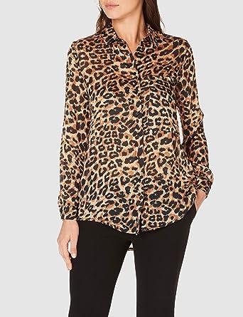 dff7203860441 Koton Kadın Gömlek, Kahverengi, Üretici Ölçüsü: 34