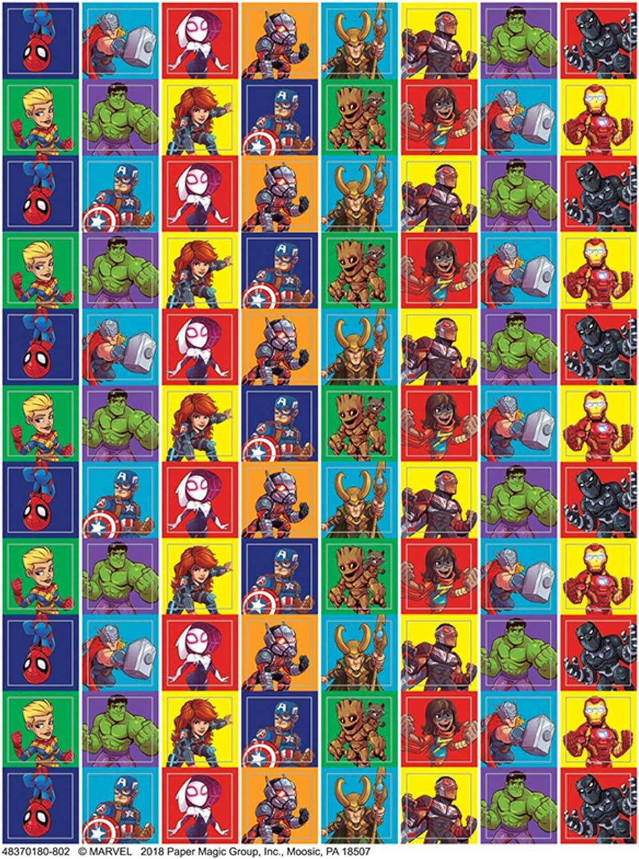 Eureka Back to School Classroom Supplies Marvel Super Hero Adventure Mini Sticker Book, 704 pcs