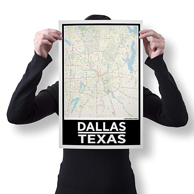 Amazoncom Spitzys Dallas Texas 12 By 18 Inch City Map Poster