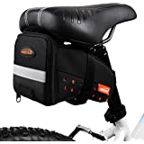 Ibera Bicycle Strap-On Seat Pack / Bike Saddle Bag, Cycling Wedge